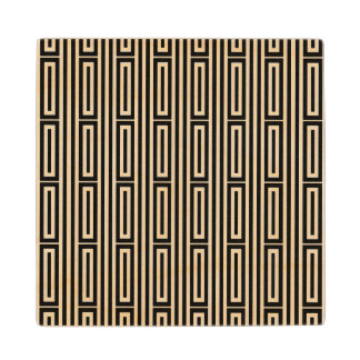 Abstract ethnic background wood coaster