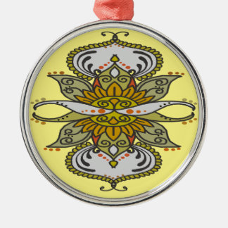 abstract ethnic flower christmas ornament