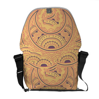 Abstract ethnic messenger bags