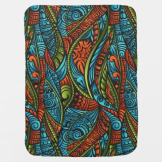 Abstract ethnic wallpaper baby blanket
