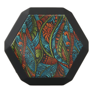 Abstract ethnic wallpaper black bluetooth speaker