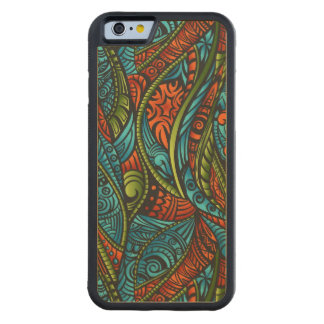 Abstract ethnic wallpaper carved maple iPhone 6 bumper case