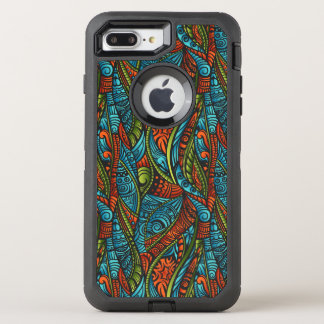 Abstract ethnic wallpaper OtterBox defender iPhone 8 plus/7 plus case