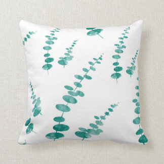 Abstract Eucalyptus Pattern Cushion