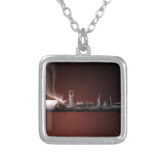 Abstract Everyday Building The Ashes Personalized Necklace