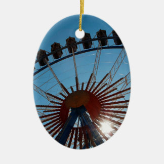 Abstract Everyday Wheel Of Fortune Ceramic Oval Decoration
