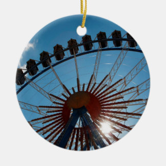 Abstract Everyday Wheel Of Fortune Round Ceramic Decoration