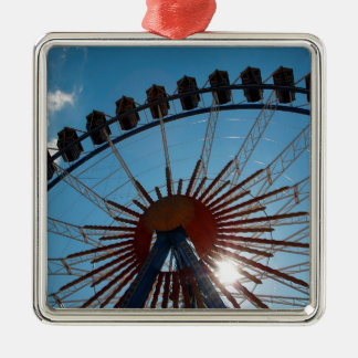 Abstract Everyday Wheel Of Fortune Silver-Colored Square Decoration