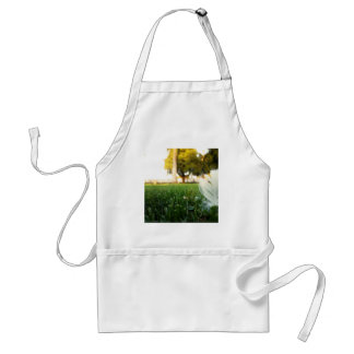 Abstract Everyday White Feather Aprons