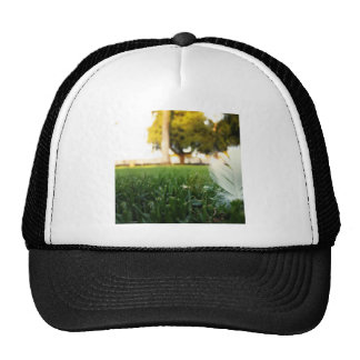 Abstract Everyday White Feather Hats
