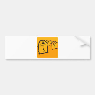 Abstract Everyday Yellow Grave Stones Bumper Sticker