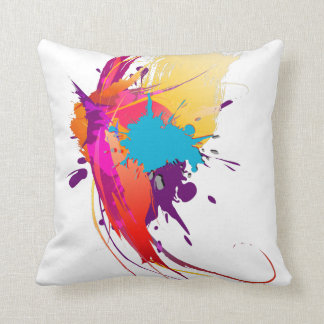 Abstract Exotic Butterfly Paint Splatters Cushions