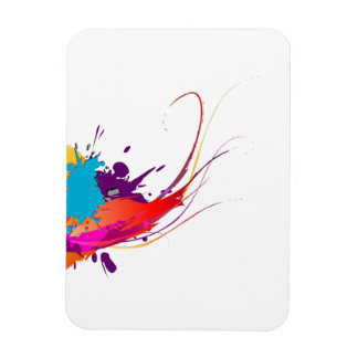 Abstract Exotic Butterfly Paint Splatters Rectangle Magnet