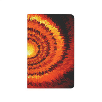 Abstract Expanding Yellow, Orange Spiral Journal