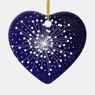 Abstract Explosion Ceramic Heart Decoration
