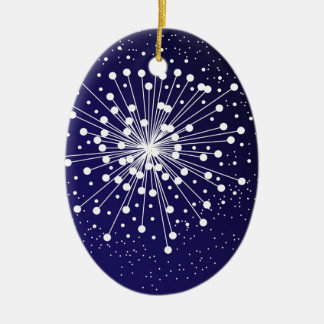 Abstract Explosion Ceramic Oval Decoration