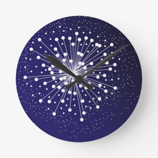 Abstract Explosion Round Clock