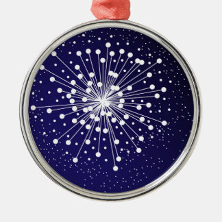 Abstract Explosion Silver-Colored Round Decoration