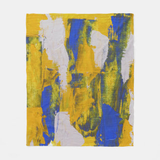 Abstract Expression #10 by Michael Moffa Fleece Blanket