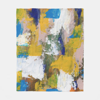 Abstract Expression #11 by Michael Moffa Fleece Blanket