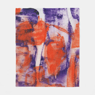 Abstract Expression #12 by Michael Moffa Fleece Blanket