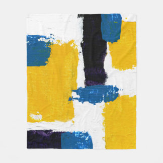 Abstract Expression #2 by Michael Moffa Fleece Blanket