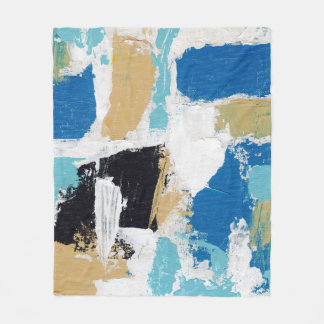 Abstract Expression #6 by Michael Moffa Fleece Blanket
