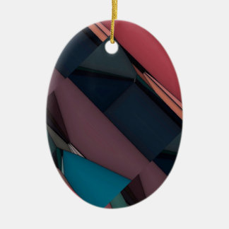 Abstract Expression Landscape Christmas Ornament