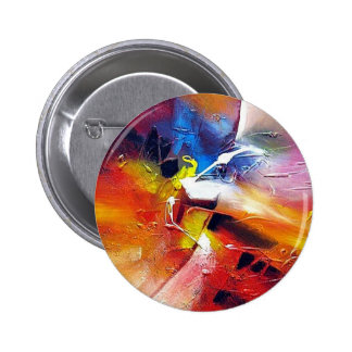 Abstract Expressionism Painting 6 Cm Round Badge
