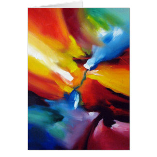 Abstract Expressionism Painting Card