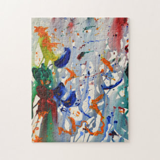 Abstract Expressionist Art by Kimberly Rowlett Jigsaw Puzzle