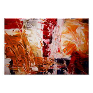 Abstract Expressionist Art Poster Modern Prints