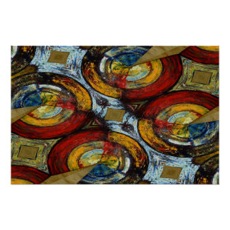 Abstract Expressionist Circles Poster Print