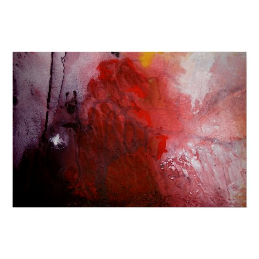 Abstract Expressionist Painting Print Poster