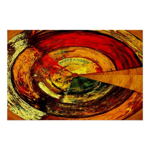 Abstract Expressionist Poster Print