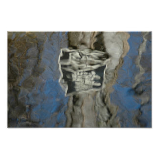 Abstract Expressionist Puddle Art Poster