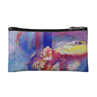 Abstract Eye of the Storm Bagette Cosmetic Bag