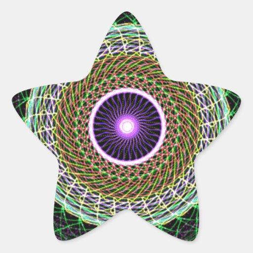 Abstract eye star sticker