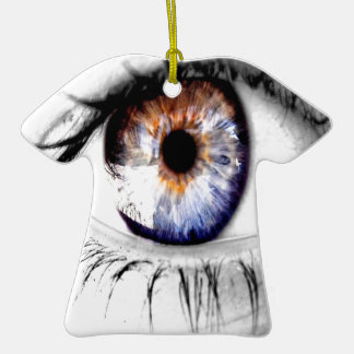 Abstract Eye Wide Open Christmas Ornament