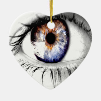 Abstract Eye Wide Open Ceramic Heart Decoration