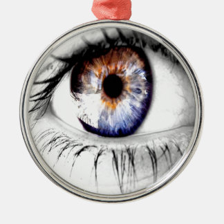 Abstract Eye Wide Open Ornaments
