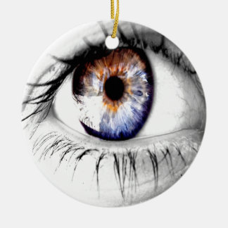 Abstract Eye Wide Open Round Ceramic Decoration