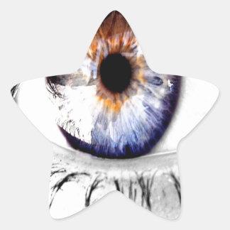 Abstract Eye Wide Open Star Sticker