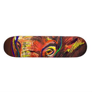 Abstract Eyes 21.6 Cm Skateboard Deck
