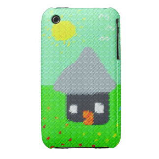 Abstract fabric needlepoint pattern iPhone 3 cases