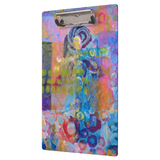 Abstract Fabric Print Clipboard