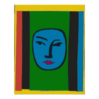 Abstract Face After Matisse Poster