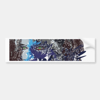 Abstract Face Bumper Stickers