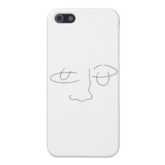 Abstract Face Cover For iPhone 5/5S
