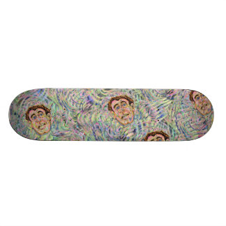 Abstract Face Pattern Skate Board
